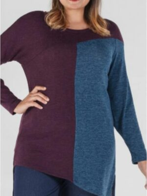 JERSEY BICOLOR MUJER